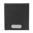 Stylish Lichee Pattern Portable Cigarette Case / Card Holder - Black (Holds 14 PCS)