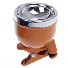 780B Creative Clip-on Cup Shape Zinc Alloy Ashtray - Wheat + Silver