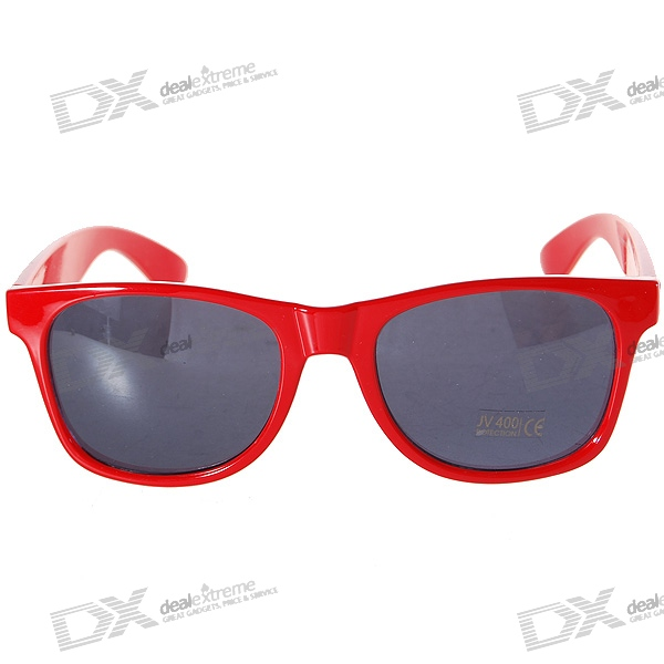 Sunglasses With Red Lenses  uv400 uv protection plastic lens sunglasses red frame free