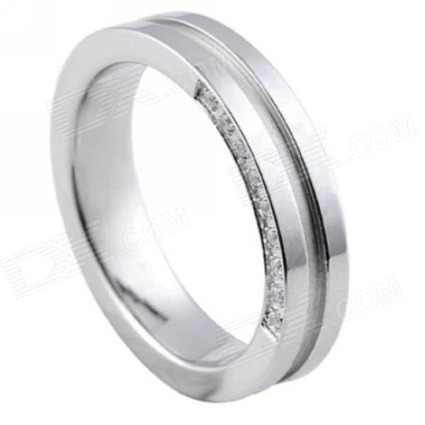 eQute RSSC3C1S7 Women's Titanium Steel 3A Zircon Ring - Silver (US Size 7) монопод manfrotto mm290a4