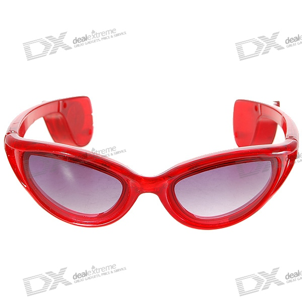 3-Mode LED Flashing Cool Glasses – Red (1*CR2032)