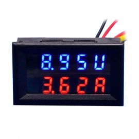 "0.28"" LED 4-Digital Dual-Display DC Ammeter Voltmeter (0~100V / 50A)"