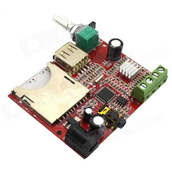 20W Hi-fi MP3 Decoder Board w/ Remote Amplifier Board iwistao hifi digital amplifier stereo audio 2x50w support u disk tf card mp3 wav remote control 8 320kbps usb amp free shipping