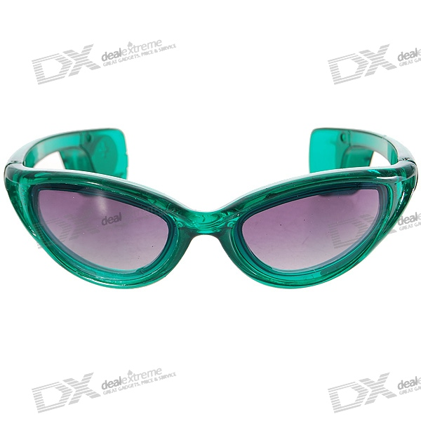3-Mode LED Flashing Cool Glasses – Green Frame/Green LED (1*CR2032)