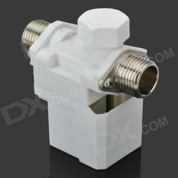 Electric Solenoid Valve for Water Air N/C 12V DC 1/2 Normally Closed - Silver + White dc 12v normally open n o 2 way pilot solenoid valve15mm water steam oil solenoid electric valve