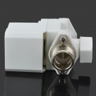"Electric Solenoid Valve for Water Air N/C 12V DC 1/2"" Normally Closed - Silver + White"