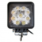LML-0727B 27W 6000K 1890lm 9-LED White Light Ultrathin LED Offroad Spot Beam Light - Black