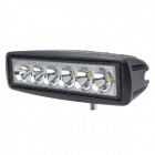 "LML-1918 18W 6000K 1350lm 6"" 6-LED White Light Ultrathin LED Offroad Spot Beam Lamp - Black"