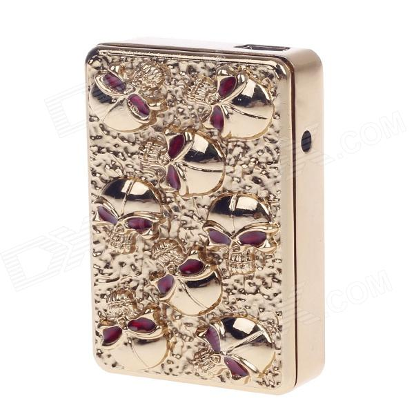 SHAYU Aluminum Alloy Skull USB Rechargeable Lighter - Golden + Red (5V)