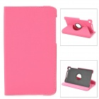 360 Degree Rotating Protective PU Leather Case w/ Stand for  Google Nexus 7 II - Deep Pink