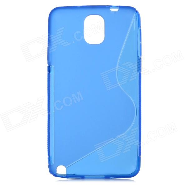 S Style Protective TPU Back Case for Samsung Galaxy Note 3 N9000 - Blue pudini wb note 3 protective pc back case for samsung galaxy note 3 white