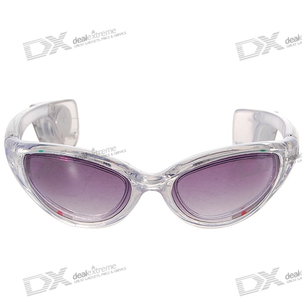3-Mode LED Flashing Cool Glasses – Gray Frame/Multiple Color LED (1*CR2032)