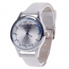 Daybird 3806 Head Layer Cowhide Band Women's Quartz Wrist Watch - White + Silver + Blue (1 x LR626)