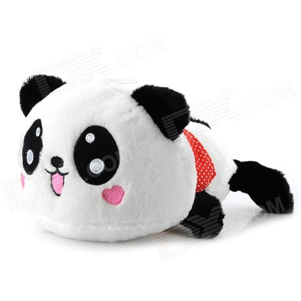 Cute Panda Style Short Plush Stuffed Toy - White + Black толстовка toy machine joe s style black