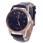 Daybird 3789 Automatic Mechanical Men's Wrist Watch w/ Simple Calendar - Black + Silver + Rose Gold