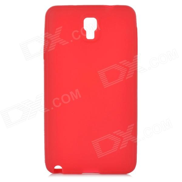 Protective Silicone Back Case for Samsung Galaxy Note 3 N9000 - Red wc king cool man relief style protective pc back case for iphone 4 iphone 4s black