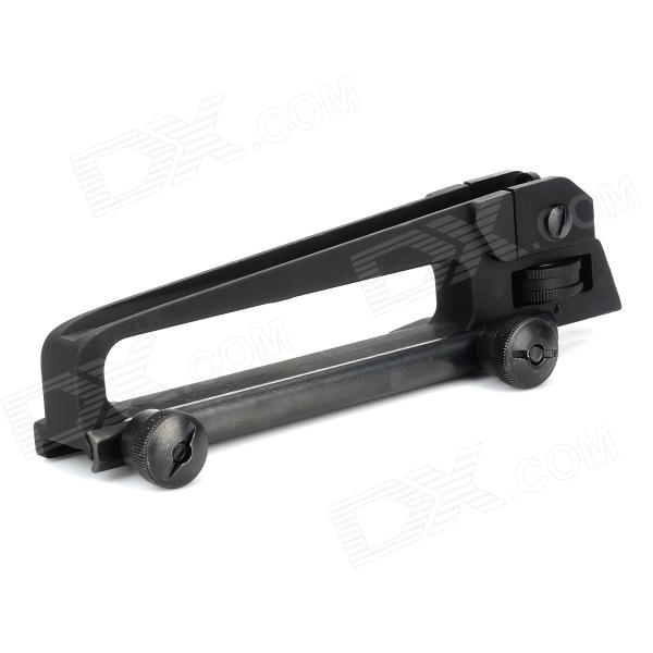 Plastic Steel Gun Handle Mount w/ Sight for M4~M16 - Black 40mm conch type gun sight green light cover