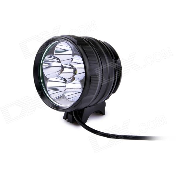FandyFire D77-L2 3-Mode 3600LM White Bike Light / Headlamp w/ 6 x CREE XM-L2 T6 - Black (4 x 18650) marsing cree xm l u2 1000lm 3 mode cool white bike light headlamp black 4 x 18650