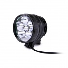 FandyFire D77-L2 3-Mode 3600LM White Bike Light / Headlamp w/ 6 x CREE XM-L2 T6 - Black (4 x 18650)