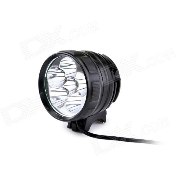 UltraFire D77-L2 3-Mode 3600LM White Bike Light / Headlamp w/ 6 x CREE XM-L2 T6 - Black (4 x 18650) marsing cree xm l u2 1000lm 3 mode cool white bike light headlamp black 4 x 18650