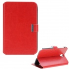 S1773903 Protective PU Leather Case Cover Stand for Samsung Galaxy Tab P5100 - Red