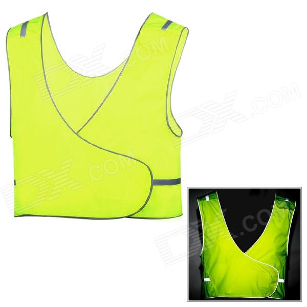 Outto Convenient Reflective Safety Nylon Vest for Cycling / Night Work - Fluorescent Green jingleszcn reflective high safety vest for construction traffic sports outdoor clothes jacket security visibility work uniforms