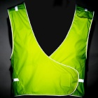 Outto Convenient Reflective Safety Nylon Vest for Cycling / Night Work - Fluorescent Green