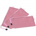 Wasserdicht Double-deck Zipper Stil B8 Document File Tasche - Pink (3 PCS)