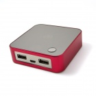IGROW IGR-1819 7800mAh Polymer Mobile Power Source Battery Charger for iPhone / Samsung + More - Red