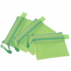 Water-proof Double-deck Zipper Style B8 Document File Pocket - Green  (3 PCS)