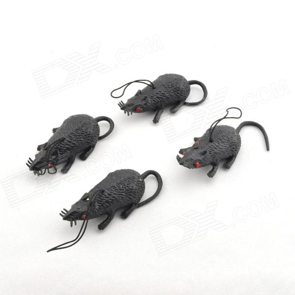 Lifelike Rubber Mouse Halloween Gag (4 PCS)