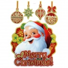 CKA1006 Christmas Santa Claus Pattern Bedroom Wall Decorative Sticker - White + Multicolored
