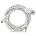 Micro USB to USB 2.0 / 3.5mm Car Audio Data / Charging Cable for Samsung Galaxy S3 / i9300 - White