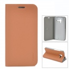 PUDINI WB-Moto X Protective Flip Open Case w/ Stand for Moto X Phone - Brown