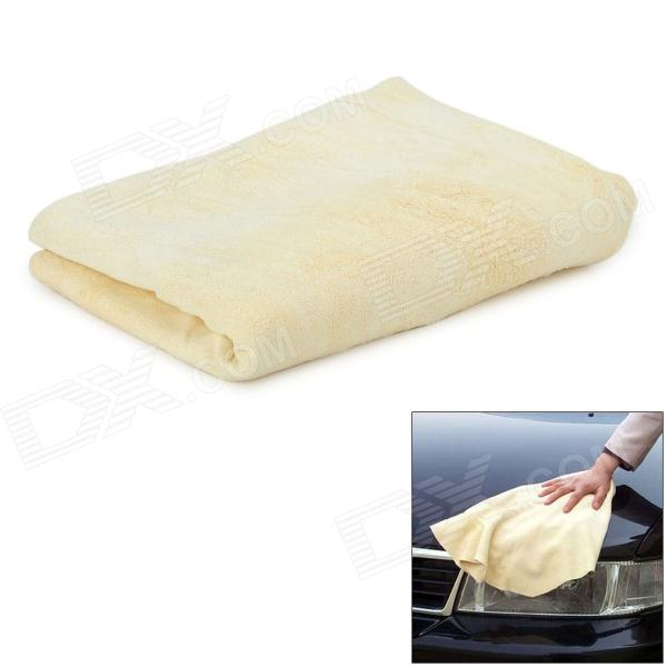Natural Chammy Car Cleaning Cloth - Beige