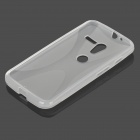 Anti-Slip Protective TPU Back Case for Motorola X Phone - Translucent White