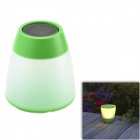 CMI LEH-42126 Solar 1-LED Warm White Light / Lawn Lamp / Garden Light - White + Green