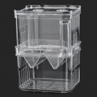 PS Self-floating Fish Hatching / Isolating Tank w/ 2-Suction Cups - Transparent