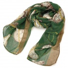 Fashion Clock Pattern Voile Scarf for Women - Green