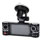 "GS50 720P 2.7"" TFT 2MP CMOS Wide Angle Dual-Camera Car DVR w/ 8-LED IR Night Vision - Black"