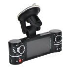 "GS50 720P 2.7 ""TFT 2MP CMOS Grande Angular Dual-Camera Car DVR w / 8-LED IR Night Vision - Preto"