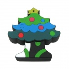 Ourspop U103 Christmas Tree Style USB 2.0 Flash Drive Disk - Green + Black (4GB)