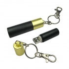Ourspop U109 USB 2.0 Flash Drive Keychain - Black + Gold (4GB)