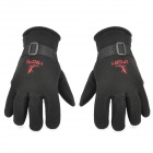 Motorcycle Windproof Warm Fleece Glove - Black