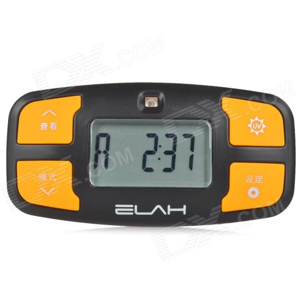 ELAH Handy Digital Pocket Pedometer w/ UV Detector - Black + Yellow (1 x CR2032) Atlanta Classifieds new