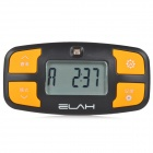 ELAH Handy Digital Pocket Pedometer w/ UV Detector - Black + Yellow (1 x CR2032)
