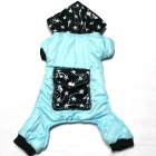 Star Big Pocket Cotton Pet Dog Clothes - Blue + Black (Size L)