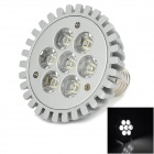 E27 7W 560lm 6000K 7-LED White Light Spotlight - Silver (Rated Voltage)