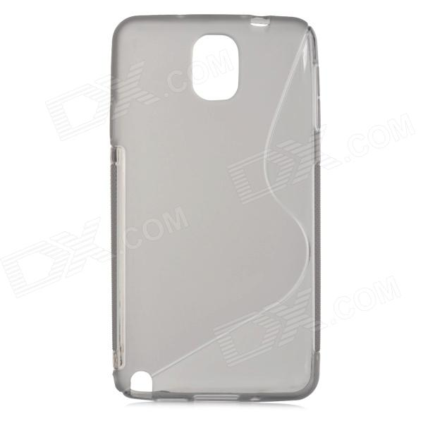 S Style Protective TPU Back Case for Samsung Galaxy Note 3 N9000 - Grey s style protective pc back case for samsung galaxy note 3 n9000 white
