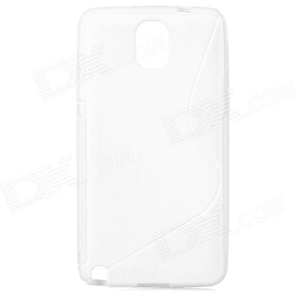 S Style Protective PC Back Case for Samsung Galaxy Note 3 N9000 - White protective silicone back case w stand for samsung galaxy note 3 translucent grey white